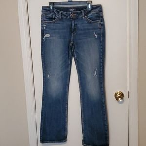 Silver slim boot jeans